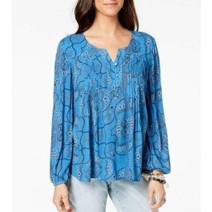STYLE & CO Printed Pleated Top